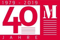 M-Design Logo 40 Jahre